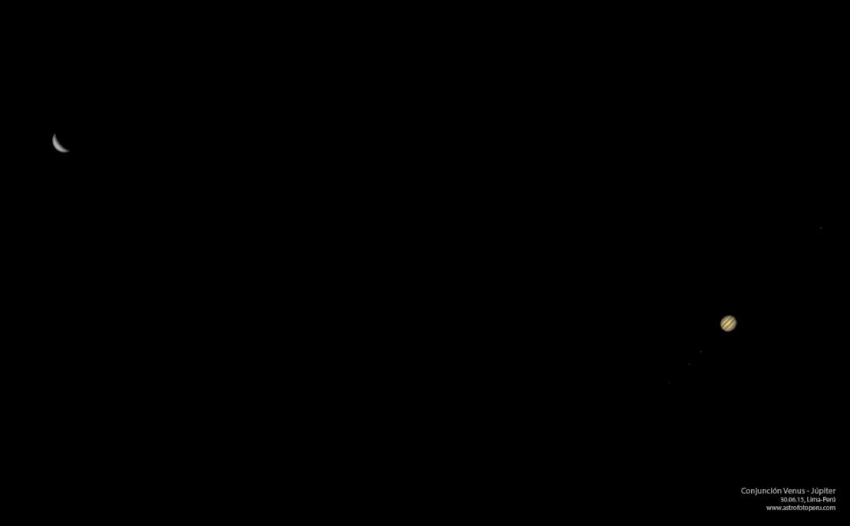 Conjunción - Venus - Júpiter - Lima - astrofotoperu