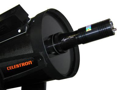 Solución Hyperstar + Cámara instalada. Hyperstar sólo está disponible para telescopios Schmidt Cassagrain (SCT)