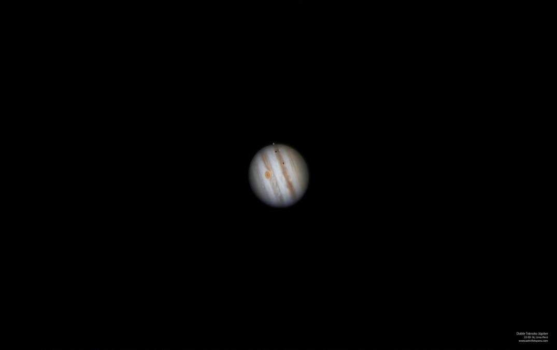 Júpiter Doble Tránsito #2 - 22.03.16 - Lima-Perú - astrofotoperu