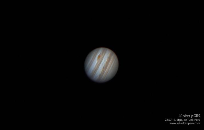 Júpiter y GRS - 22.07.17 - astrofotoperu v2 - Zoom
