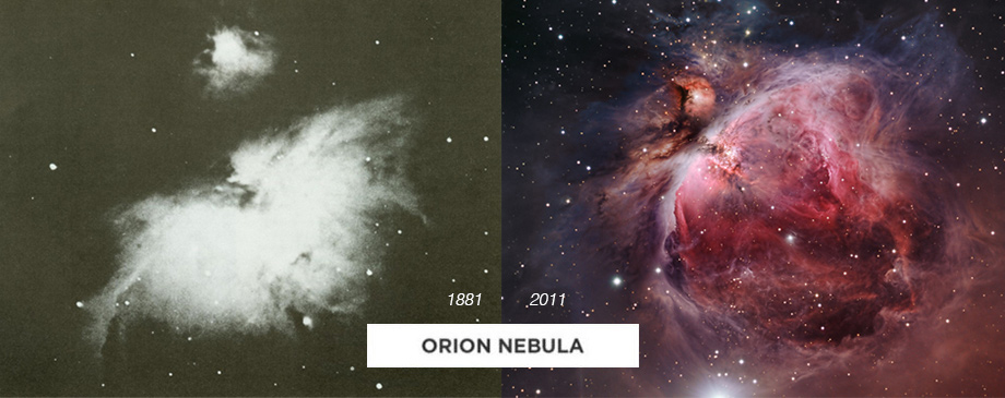 la nebula de orion antes y despues