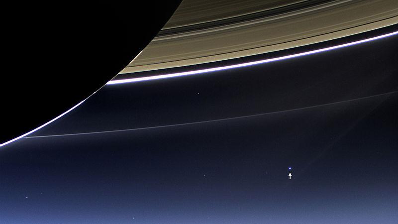 La Tierra desde Saturno