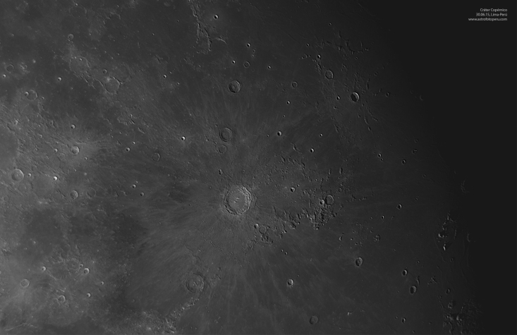 Luna - Cráter Copérnico - Lima-Perú - astrofotoperu