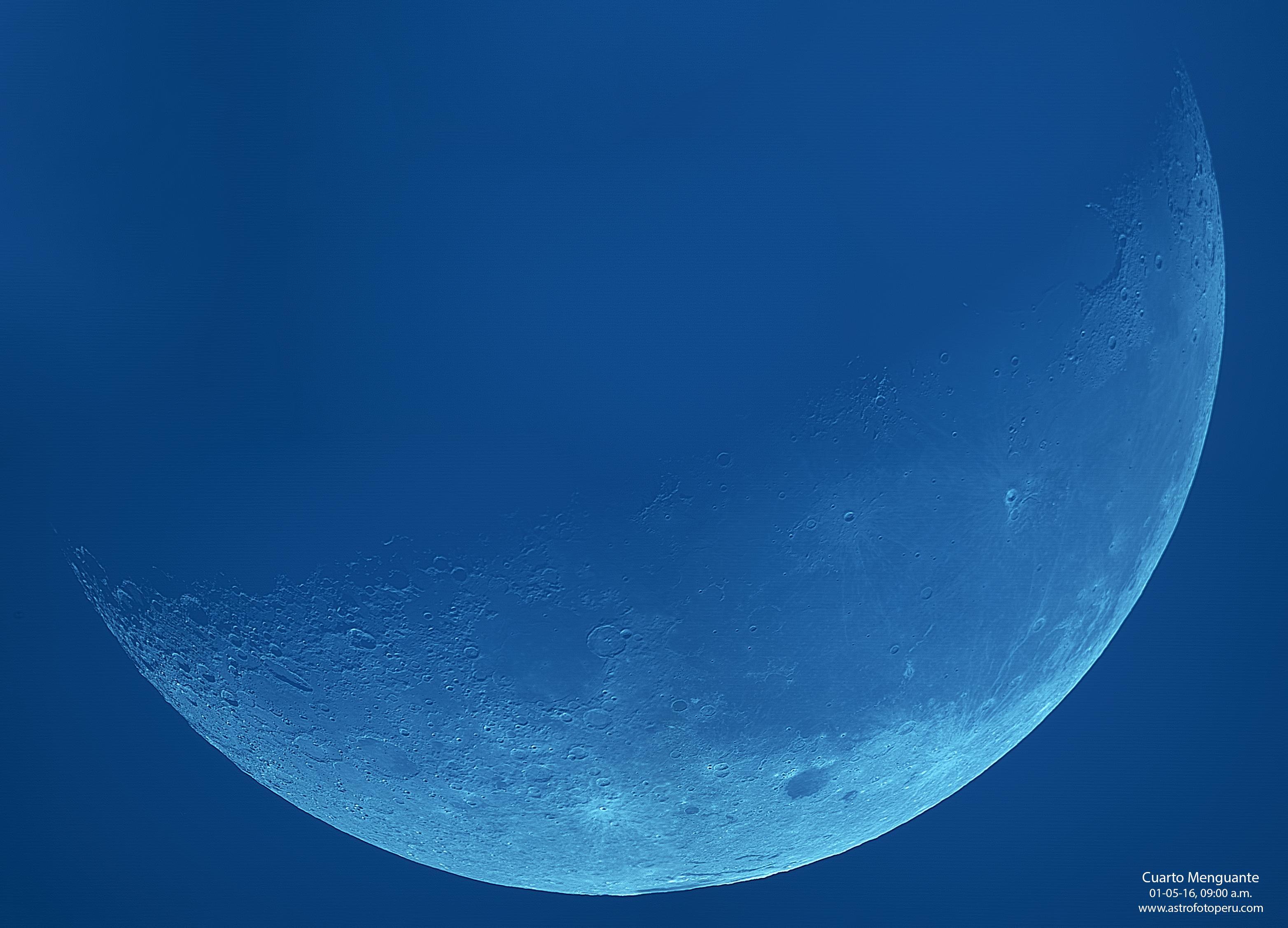 Luna – Cuarto Menguante – 9.a.m. – Lima – astrofotoperu – AstroFotoPeru