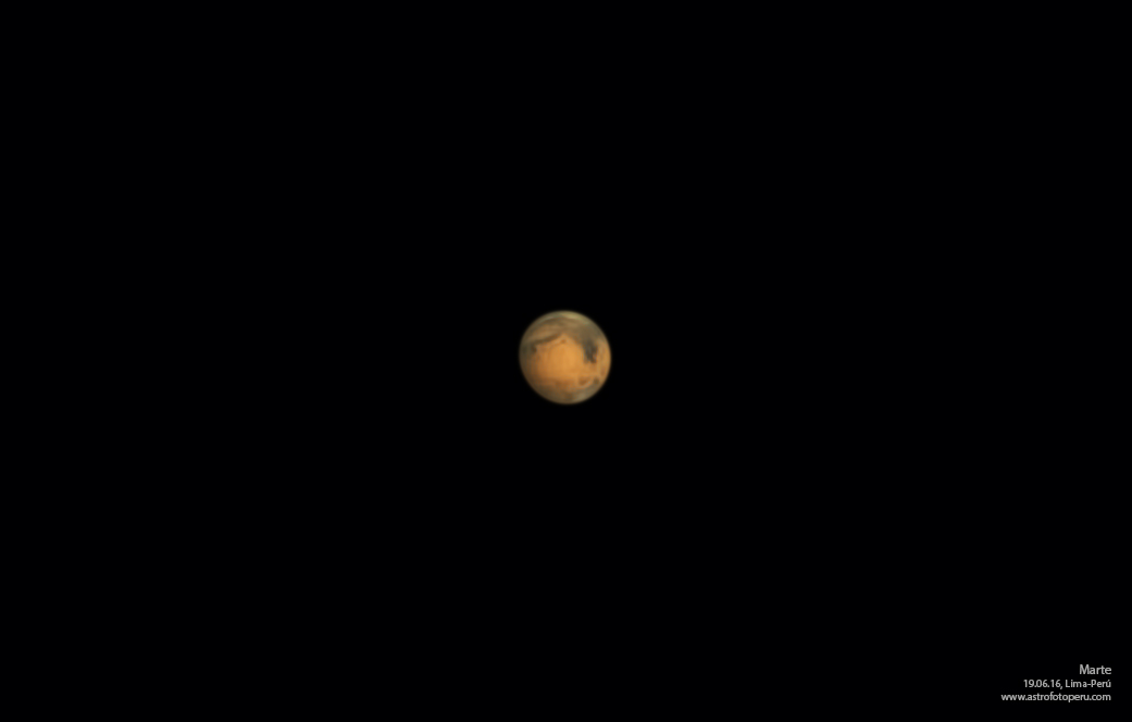 Marte - 19.06.16 - Lima-Perú - astrofotoperu - re-proceso