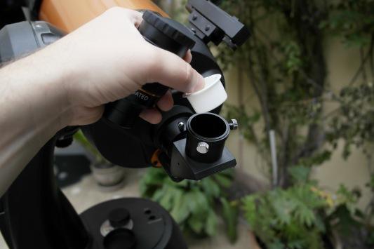Parte posterior del telescopio + visual back + lente diagonal opcional.