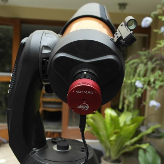 Equipo - Cámara especial para astrofotografía marca: ZWO ASI 174 MC