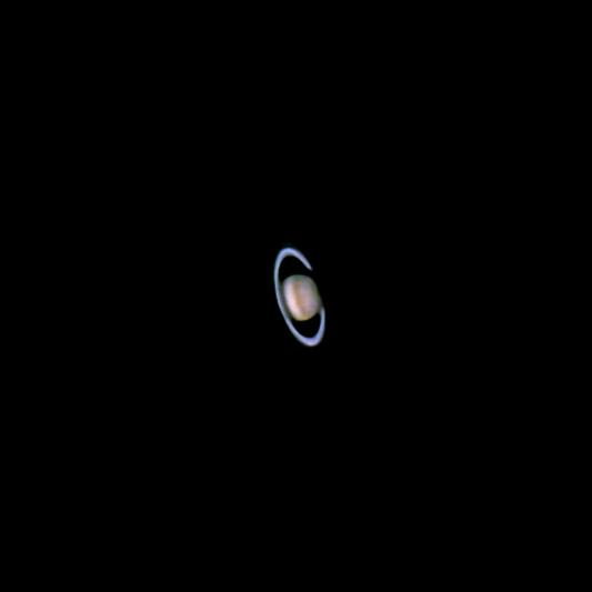 Saturno en proyección ocular con una Samsung NX-1000 y un adaptador Orion SteadyPix.