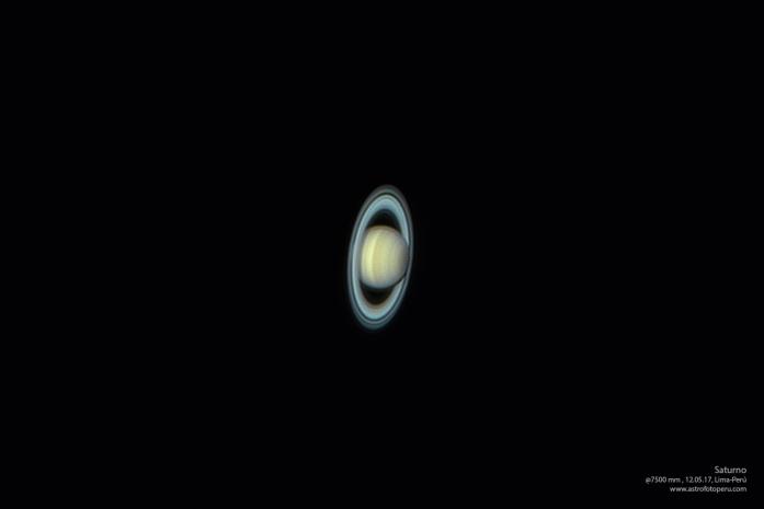 Saturno - 12.05.17, Lima-Perú @7500 mm