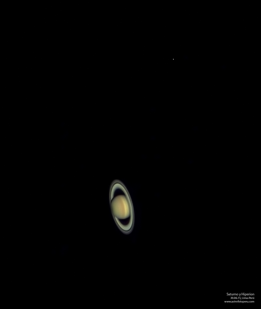 Saturno e Hiperion - 30.06.15 - astrofotoperu