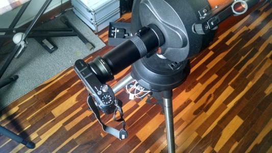 6. Cámara + tele-extender + Ocular + Telescopio.