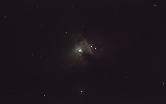 Una sóla exposición de la nebulosa de Orion