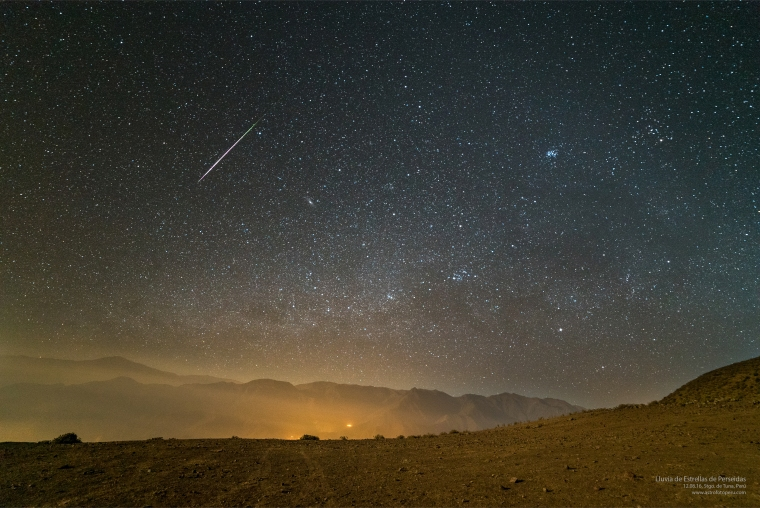 Lluvia de Estrellas de Perseidas - 12.08.16, Stgo. de Tuna, Perú