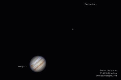 Lunas de Júpiter - 03.05.18 - Lima, Perú - astrofotoperu